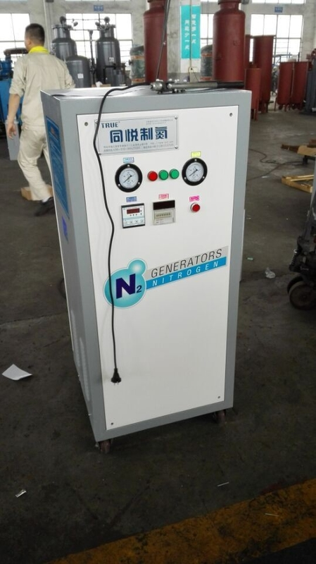 White Small Mobile Nitrogen Gas Generator Filling System 0.1 Kw Easyily Operating